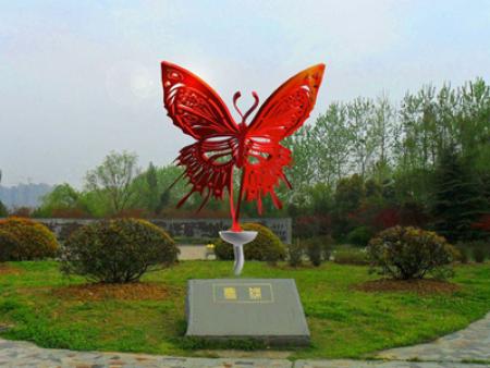 兰州雕塑灯定做-蝴蝶雕塑灯