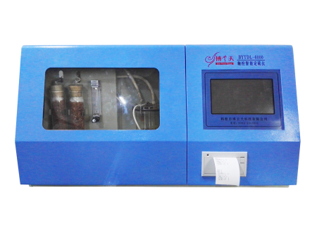 YOPLAY GAMES科技BYTDL-6000觸控智能定硫儀操作過程