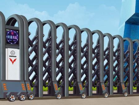 大连伸缩门中分段直线门的正确安装方法是什么?(下)