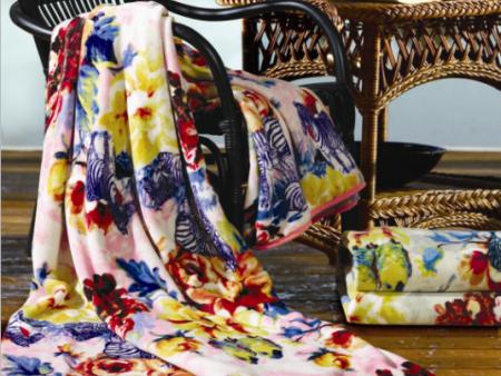 富安娜法兰绒毯-自然意向/粉