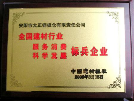 2009年标兵企业