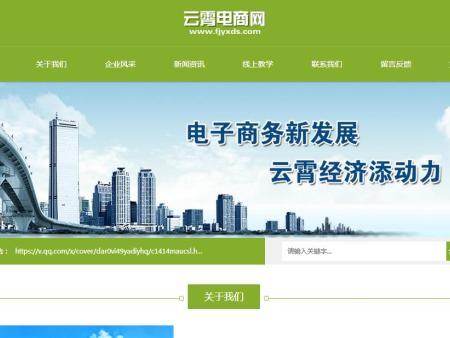 漳州市云霄縣電子商務發展領導小組辦公室網站建設案例