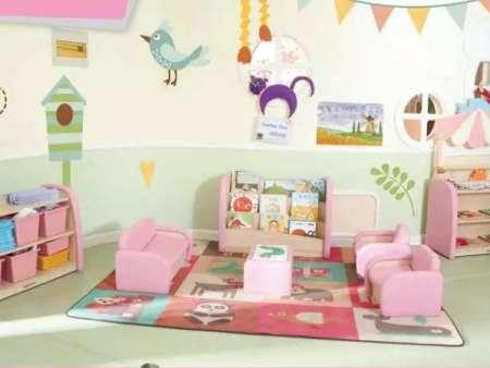 西安碧海彩立方注册教学设备有限公司-陶乐幼儿单人沙发、双人沙发、软包茶几