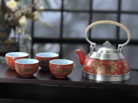 五彩云龙茶具