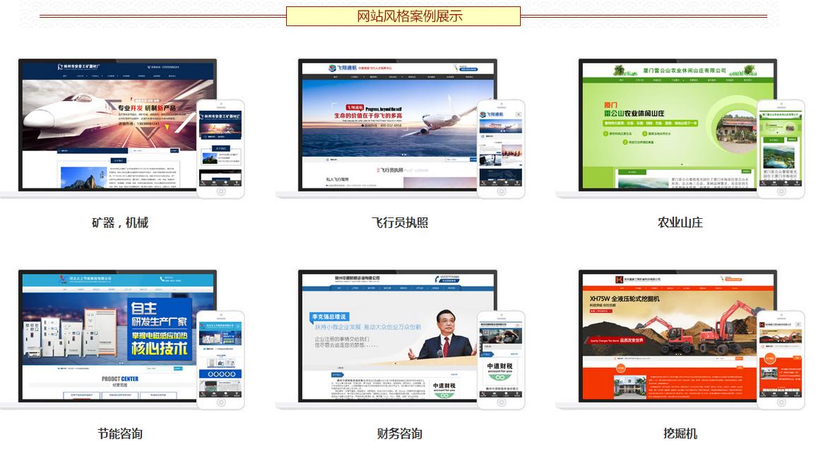 网站案例风格展示