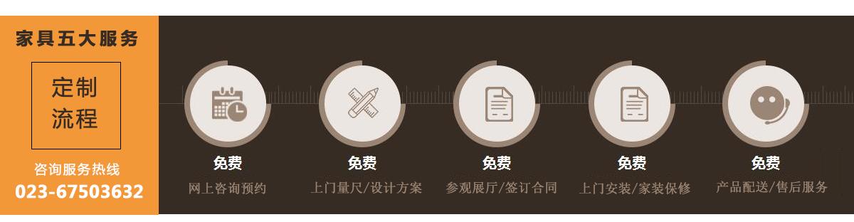 重庆晟宏办公家具5大服务项目