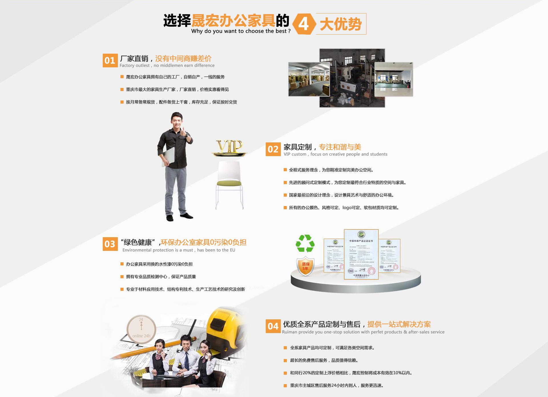 重庆晟宏办公家具4大优势介绍