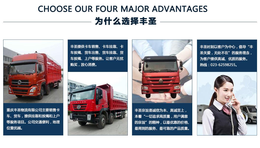 卡车销售,卡车挂靠,卡车按揭为什么选择丰圣