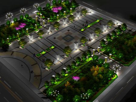 人民广场夜景亮化