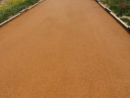彩色沥青道路施工