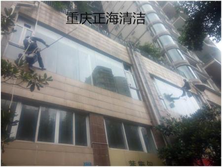 重庆朗湾精品酒店外墙清洗项目