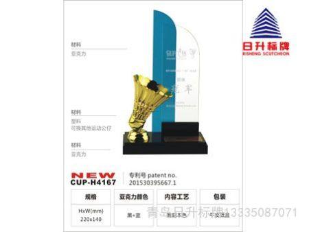 有个性的奖杯定制来青岛日升标牌