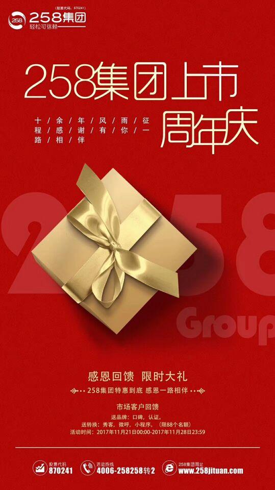 258集团上市周年庆