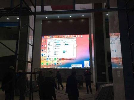 银川市生命科学中心室内全彩LED显示屏 P3   完工时间2017年11月12日