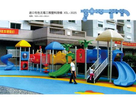进口有色无毒工程塑料滑梯-XSL-3025