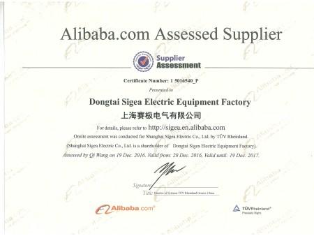 赛极工厂TUV认证证书