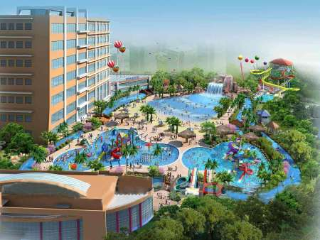 Zhangjiajie outdoor water park with hotel