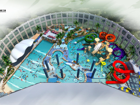 Xiushui indoor water park under construction
