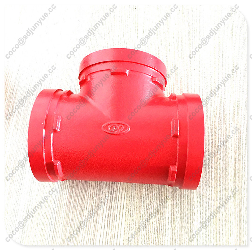 FM/UL Approved Ductile Iron Equal Tee