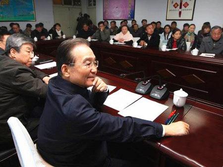 原国务院总理温总理到鹤壁视察