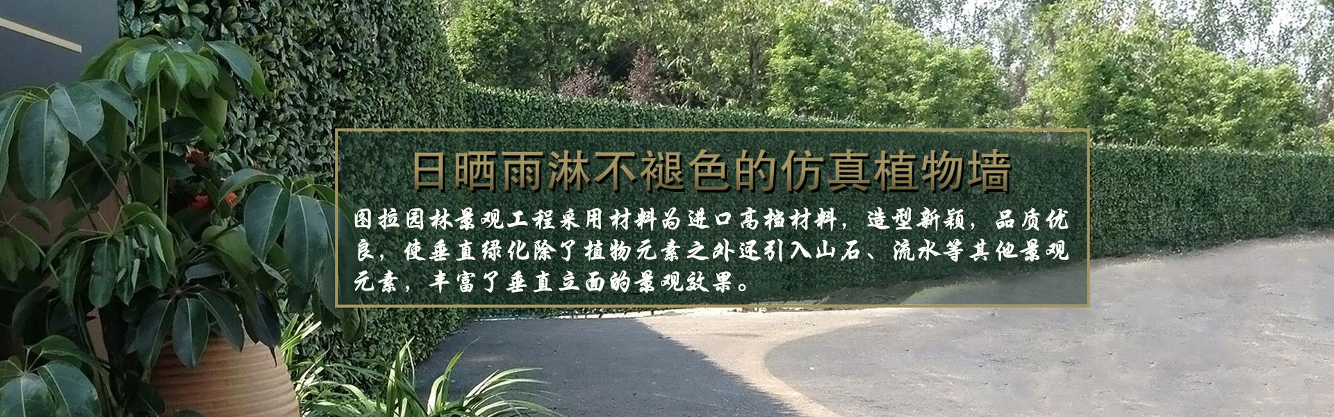 重庆图拉园林景观工程使垂直绿化除了植物元素之外还引入山石、流水等其他景观 元素,丰富了垂直立面的景观效果。