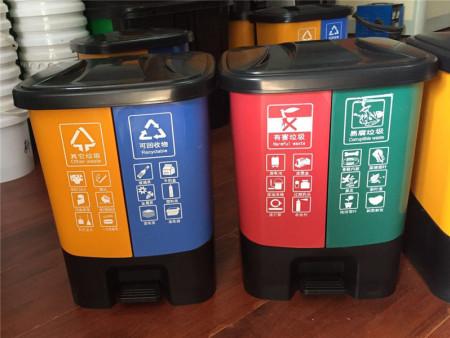 双色分体式垃圾桶