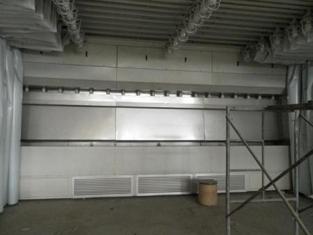 可移动伸缩式无泵水帘漆房