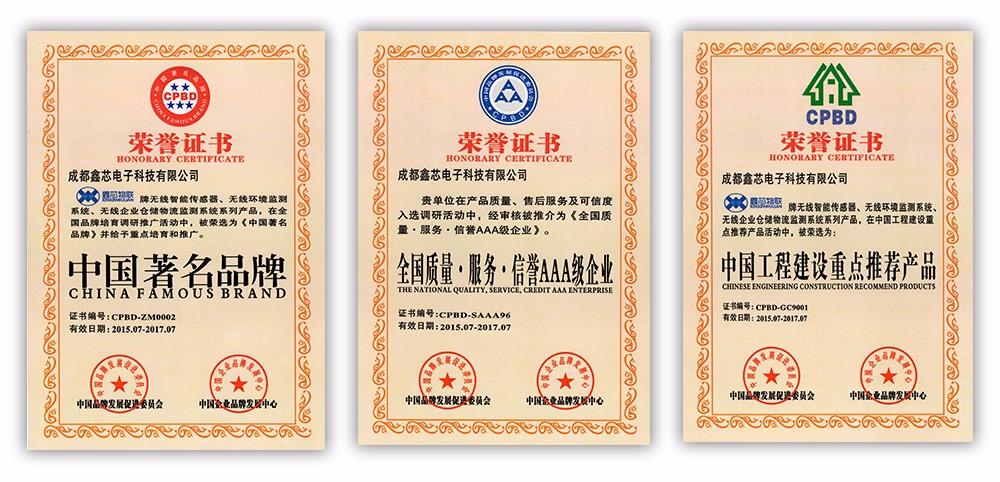 成都鑫芯電子科技有限公司(鑫芯物聯)AAA資質證書