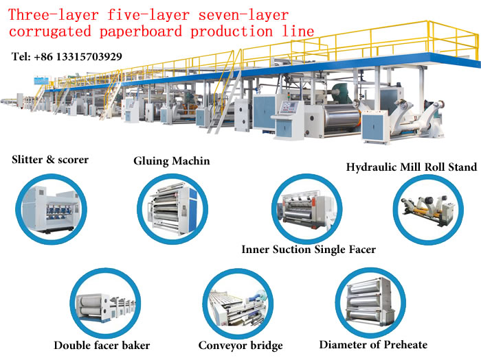 Three-layer five-layer seven-layer corrugated paperboard production line.jpg