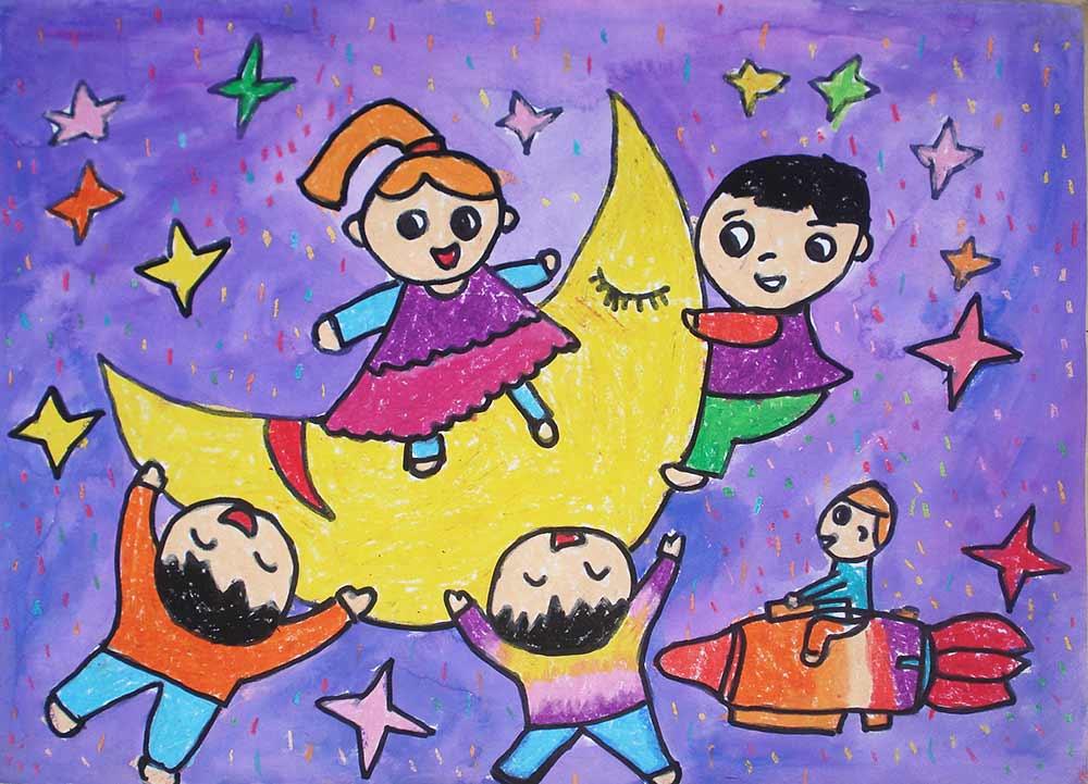 少儿综合班|少儿作品欣赏-三原色书画艺术培训中心