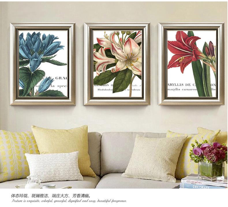 美式乡村装饰画餐厅挂画玄关壁画美饰丽家现代简约沙发背景墙客厅