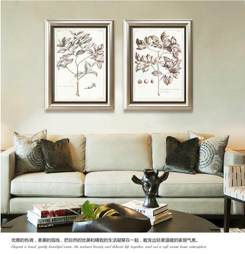 美式乡村装饰画餐厅挂画玄关壁画美饰丽家现代简约沙发背景墙客厅图片