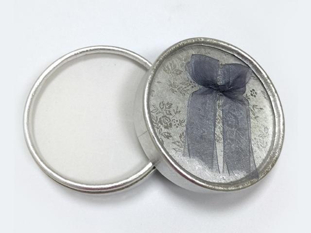 银色 蝴蝶结绸带首饰盒|戒指盒-四会市富兴纸品首饰盒加工场