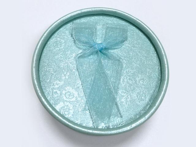 天蓝色 蝴蝶结绸带首饰盒|戒指盒-四会市富兴纸品首饰盒加工场