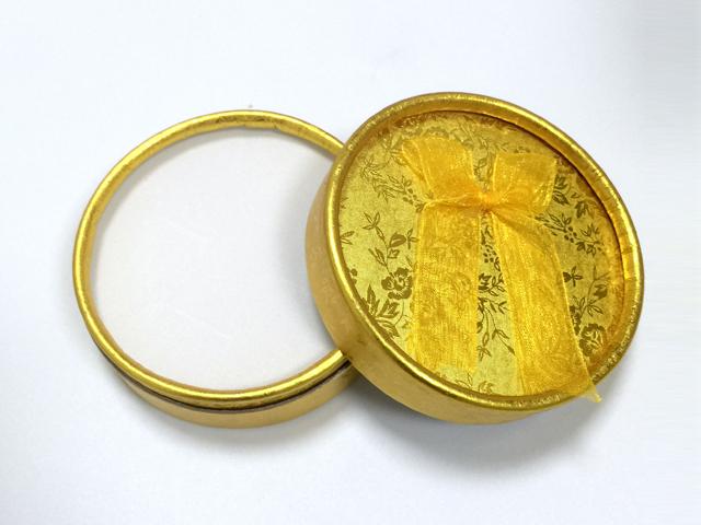 黃色 蝴蝶結綢帶首飾盒|戒指盒-四會市富興紙品首飾盒加工場
