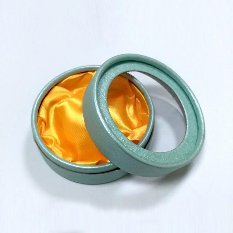 高档透明开窗盖圆形包装盒|珠宝盒-四会市富兴纸品首饰盒加工场
