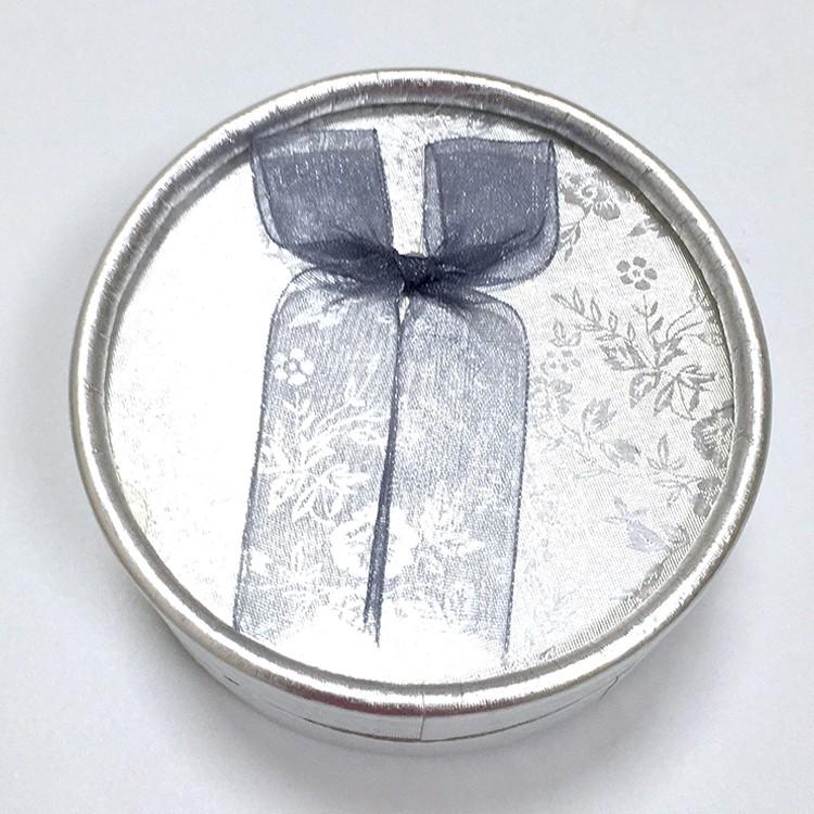銀色 絨布蝴蝶結飾品盒|珠寶盒-四會市富興紙品首飾盒加工場