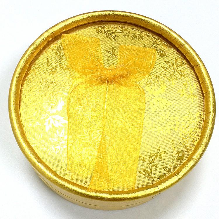 黃色 絨布蝴蝶結飾品盒|珠寶盒-四會市富興紙品首飾盒加工場