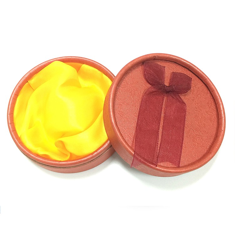 红色 绒布蝴蝶结饰品盒|珠宝盒-四会市富兴纸品首饰盒加工场