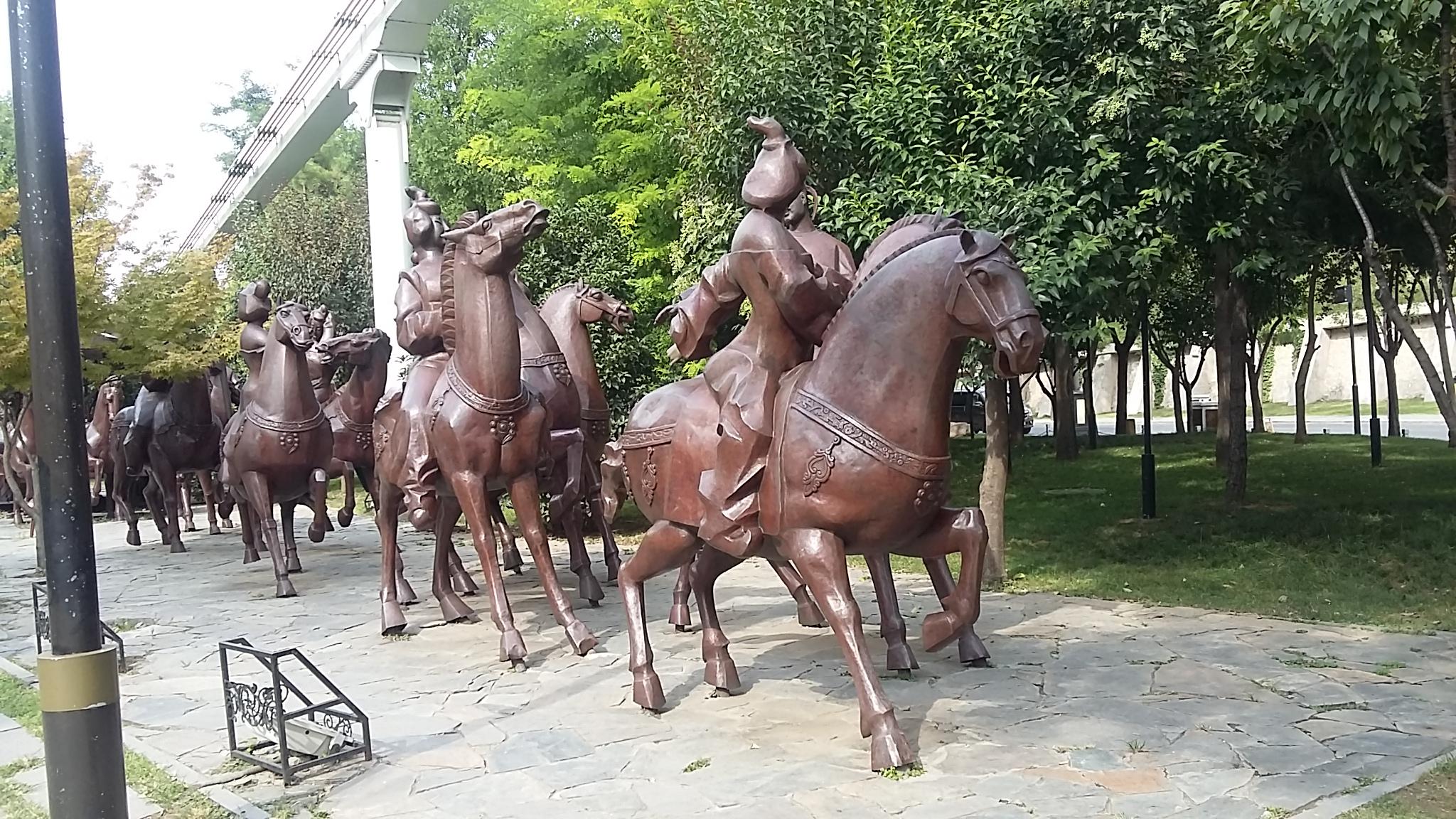 公园锻铜雕塑