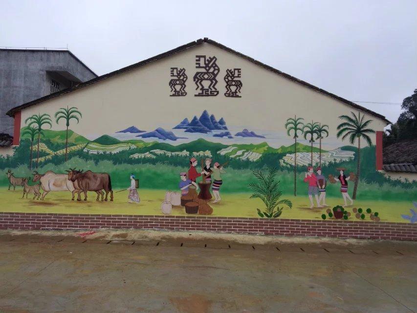 美丽乡村墙绘|成功案例-海南三彩画艺文化传播有限公司