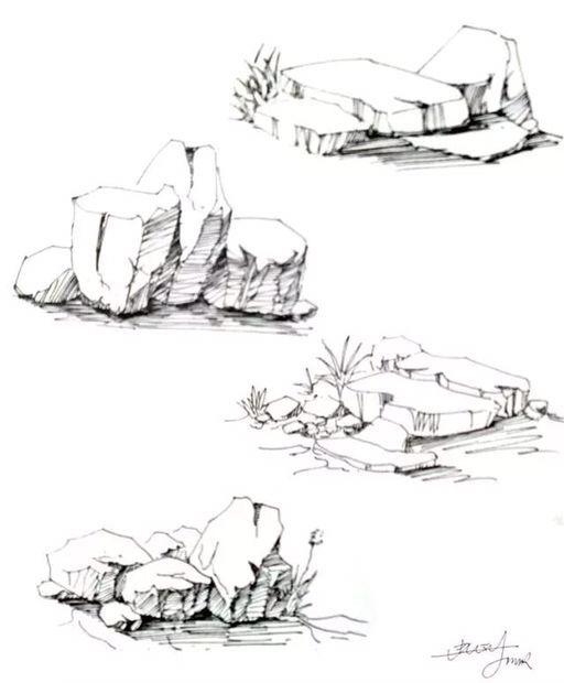 风景速写单体画法,看完直接收藏了