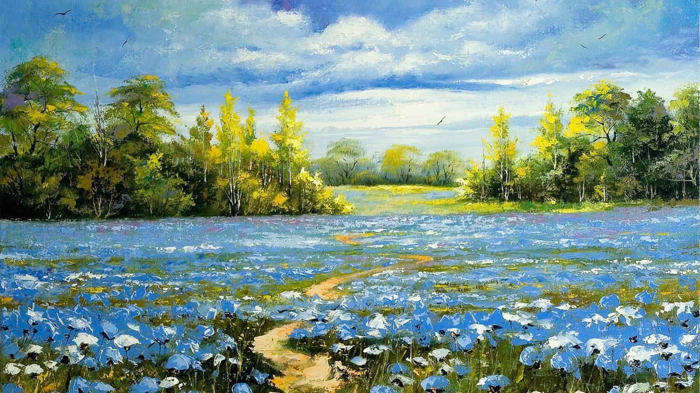 手绘油画 风景|手绘油画-铁岭画之翼绘画艺术有限公司