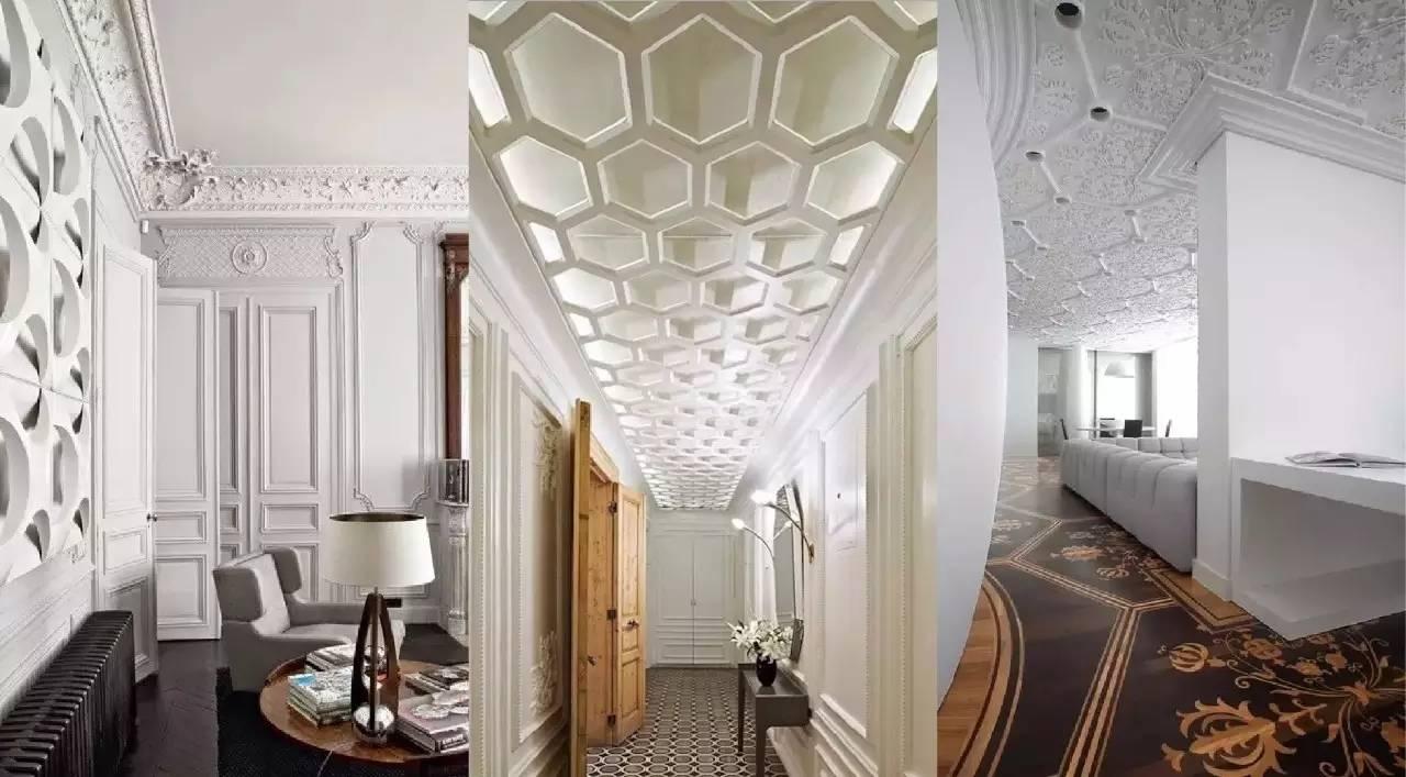 如果说土豪崇尚的装修风格是用豪华吊顶、大理石、水晶石、玛瑙、古瓷等材料堆砌而成的梦幻殿堂,那么屌丝主张的空间设计则是以木质、水泥、白墙等材料打造而成的温馨小家。而石膏线的存在却可以自由游走在这两者之间,但是它由于价格低廉,质地千差万别,又不具备镶金镀银的特质等种种因素而被任性的土豪风冷落一旁。