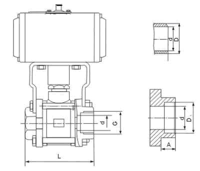 PSRQ611F气动内螺纹球阀