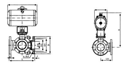 PSRQ645F型气动三通球阀