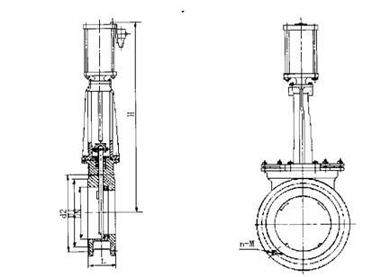 PCZPZ673H气动刀型闸阀