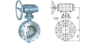 PD343F手动蜗轮蝶阀