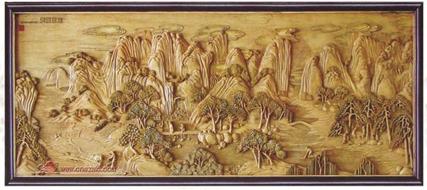 木雕 壁画 浮雕 条屏 挂匾 山水