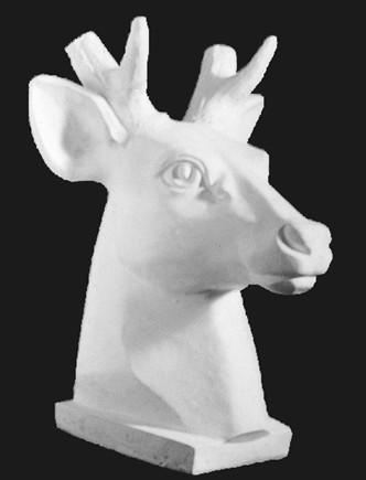 动物石膏雕塑